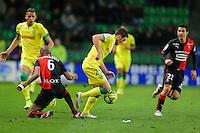 Jordan VERETOUT / Gelson FERNANDES - 21.03.2015 - Rennes / Nantes - 30eme journee de Ligue 1<br />Photo : Vincent Michel / Icon Sport
