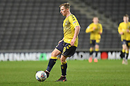 Coventry City midfielder Jamie Allen (8) looks to release the ball during the EFL Trophy match between Milton Keynes Dons and Coventry City at Stadium:MK, Milton Keynes, England on 3 December 2019.