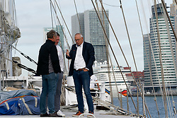 """12-09-2019 NED: Kick-off European Volleyball Men's Championship, Rotterdam<br /> Kick-off for the European Volleyball Men's Championship at the Sailing Ship """"Eendracht"""" with The CEV board, municipal officials of the playing cities, Nevobo and Topsport Rotterdam / Herman Meppelink"""