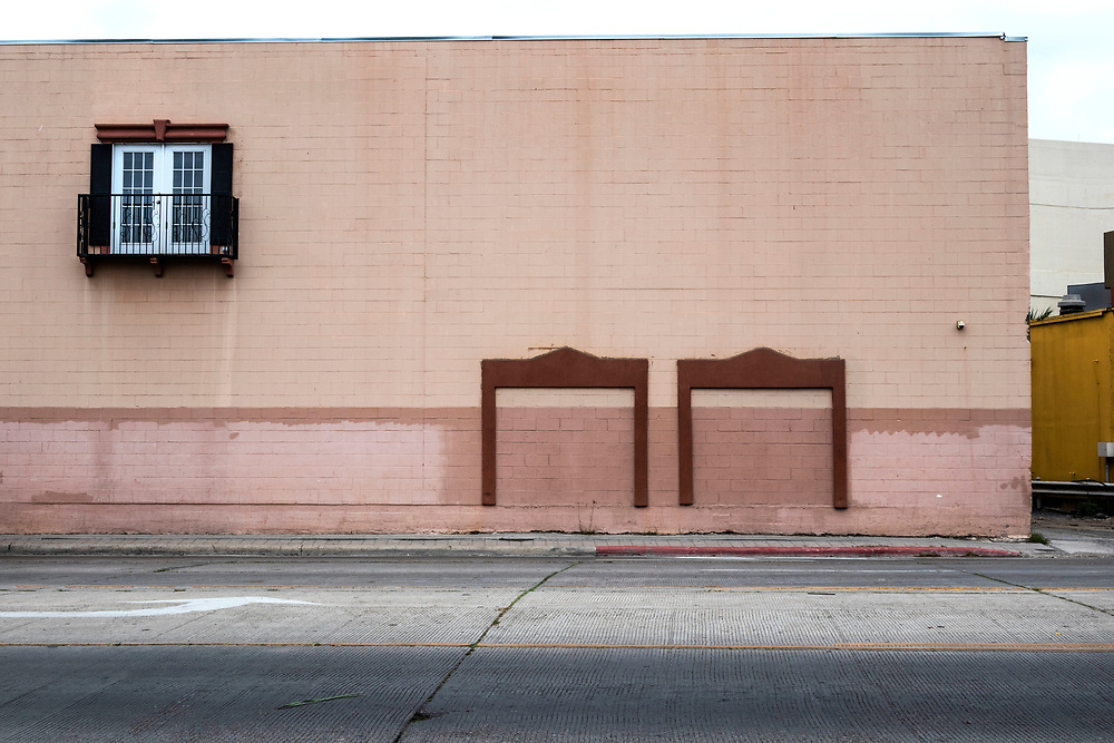 Pink wall with window, Brownsville Texas, USA