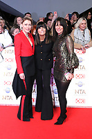 Emma Willis, Claudia Winkleman and Davina McCall, National Television Awards, The O2, London, UK, 28 January 2020, Photo by Richard Goldschmidt
