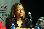 """Valiesha Butterfield at the Hip-Hop Summit's """"Get Your Money Right"""" Financial Empowerment International Tour draws hip-hop stars and financial experts to teach young people about financial literacy held at The Johnson C. Smith University's Brayboy Gymnasium on April 26, 2008..For the past three years, hip-hop stars have come out around the country to give back to their communities. Sharing personal stories about the mistakes they've made with their own finances along the way, and emphasizing the difference between the bling fantasy of videos and the realities of life, has helped young people learn the importance of financial responsibility while they're still young. With the recent housing market crash in the United States affecting the economy, jobs, student loans and consumer confidence, young people are eager to receive sound financial advice on how to best manage their money and navigate through this volatile economic environment.."""