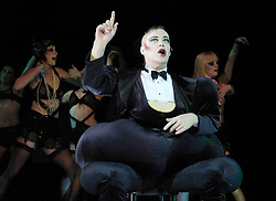 Cabaret<br /> celebrates its second year at the<br /> Lyric Theatre, London, Great Britain<br /> press photocall<br /> October 9, 2007<br /> Amy Nuttall as Sally Bowles <br /> Julian Clary as Emcee<br /> Photograph by Elliott Franks