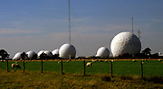 AWY76F The Menwith Hill spy base near Harrogate in North Yorkshire England