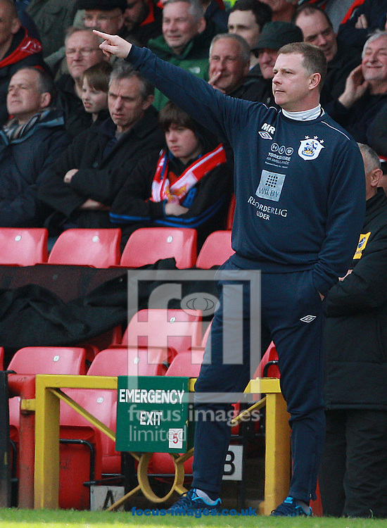 Picture by Paul Terry/Focus Images Ltd +44 7545 642257.27/04/2013.Mark Robins, manager of Huddersfield Town during the npower Championship match at Ashton Gate, Bristol.