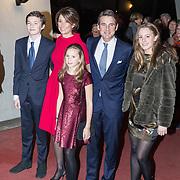 NLD/Apeldoorn/20180119 - Verjaardagsconcert Prinses Margriet 75 Jaar, Prins Maurits, Prinses Marilene, Anna, Lucas en Felicia van Vollenhoven