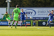 Forest Green Rovers Liam Noble(15) shoots at goal misses the target during the Vanarama National League match between Forest Green Rovers and Guiseley  at the New Lawn, Forest Green, United Kingdom on 22 October 2016. Photo by Shane Healey.