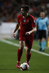 March 22, 2019 - Lisbon, Portugal - Raphael Guerreiro of Portugal  in action during the Euro 2020 qualifying match football match between Portugal vs Ukraine, in Lisbon, on March 22, 2019. (Credit Image: © Carlos Palma/NurPhoto via ZUMA Press)