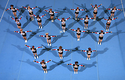 Welps, Germany during All Female senior at second day of European Cheerleading Championship 2008, on July 6, 2008, in Arena Tivoli, Ljubljana, Slovenia. (Photo by Vid Ponikvar / Sportal Images).