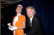 Richard Branson, Fundraising party with airline theme in aid of the Old Vic and to celebrate the appointment of Kevin Spacey as artistic director.  <br />Old Billinsgate Market.  5 February 2003. © Copyright Photograph by Dafydd Jones 66 Stockwell Park Rd. London SW9 0DA Tel 020 7733 0108 www.dafjones.com
