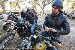 Peter Ballard at the The Cycle Source bike show at the Broken Spoke Saloon during Daytona Beach Bike Week. FL. USA. Tuesday, March 14, 2017. Photography ©2017 Michael Lichter.