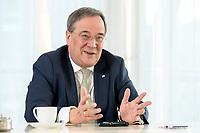 27 NOV 2020, BERLIN/GERMANY:<br /> Armin Laschet, CDU, Ministerpraesident Nordrhein-Westfalen, waehrend einem Interview, Landesvertretung Nordrhein-Westfalen<br /> IMAGE: 20201127-01-025
