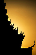 The sun sets on the cremation ceremony of King Norodom Sihanouk, Phnom Penh, Cambodia, Southeast Asia