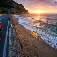 James Brickell, dawn ride, Liguria, Italy.