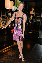 CAROLINE WINBERG at the OMEGA VIP dinner hosted by Cindy Crawford and OMEGA President Mr. Stephen Urquhart held at aqua shard', Level 31, The Shard, 31 St Thomas Street, London, SE1 9RY on 10th December 2014.