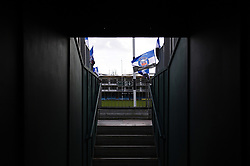A view onto the pitch at the Recreation Ground - Mandatory byline: Patrick Khachfe/JMP - 07966 386802 - 01/03/2020 - RUGBY UNION - The Recreation Ground - Bath, England - Bath Rugby v Bristol Bears - Gallagher Premiership