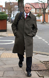 © London News Pictures. FILE PIC 02/12/2015. London, UK. Labour  Shadow Foreign Secretary HILARY BENN leaving his home in West London on the day that parliament is due to debate and vote on UK military involvement in the bombing of ISIS in Syria. Reports have suggested that Hilary Benn might be moved from his position as  shadow foreign secretary in this weeks expected shadow cabinet reshuffle. Photo credit: Ben Cawthra/LNP