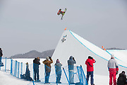Alex Beaulieu-Marchand, Canada, at thePyeongchang 2018 Winter Olympics men's freestyle ski slopestyle on February 18th 2017, at the Phoenix Snow Park inPyeongchang-gun, South Korea.