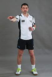 Umpire Chris Molloy signalling incorrect entry to area