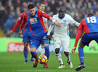 Football - 2016 / 2017 Premier League - Crystal Palace vs. Chelsea<br /> <br /> Scott Dann of Palace and N'Golo Kante of Chelsea at Selhurst Park.<br /> <br /> COLORSPORT/ANDREW COWIE