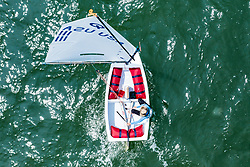 Day 7. The International Optimist Australian Championships being held in Melbourne, Australia. 9 January 2020. Photo: Drew Malcolm for Down Under Sail.