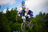 #14 (CALEYRON Quentin) FRA at the UCI BMX Supercross World Cup in Papendal, Netherlands.