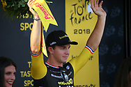 Podium, Dylan Groenewegen (NED - Team LottoNL - Jumbo) winner, during the 105th Tour de France 2018, Stage 7, Fougeres - Chartres (231km) on July 13th, 2018 - Photo Kei Tsuji / BettiniPhoto / ProSportsImages / DPPI