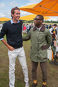 OTIS FERRY; TINY TEMPAH, The Veuve Clicquot Gold Cup Final.<br /> Cowdray Park Polo Club, Midhurst, , West Sussex. 15 July 2012.