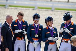 Team Netherlands, Gal Edward, Minderhoud Hans Peter, Scholtens Emmelie, Meulendijks Anne<br /> European Championship Dressage<br /> Rotterdam 2019<br /> © Hippo Foto - Dirk Caremans