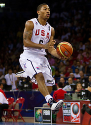 Derrick Rose of USA during the Preliminary Round - Group B basketball match between National teams of USA and Brasil at 2010 FIBA World Championships on August 30, 2010 at Abdi Ipekci Arena in Istanbul, Turkey. (Photo By Vid Ponikvar / Sportida.com)