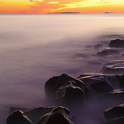 Dawn at Wallis Sands State Park in Rye, New Hampshire.