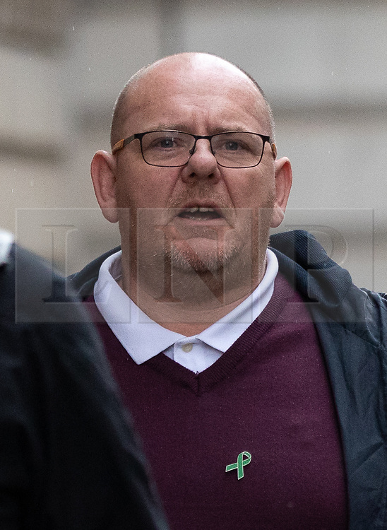 © Licensed to London News Pictures. 17/12/2019. London, UK. Tim Dunn, father of Harry Dunn, arrives at the Foreign and Commonwealth Office in Westminster, London, for a meeting with Foreign Secretary Dominic Raab. Harry Dunn was killed when his motorbike crashed into a car outside RAF Croughton in Northamptonshire on August 27. Photo credit : Tom Nicholson/LNP