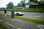 Blurred picture of Bill de Selincourt, Whitsun Sports car race 3 June 1963, First place winner, Lotus Climax car, Goodwood, England, UK