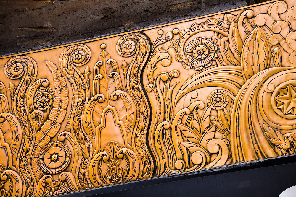 Detail of Art Deco frieze on the Chanin Building