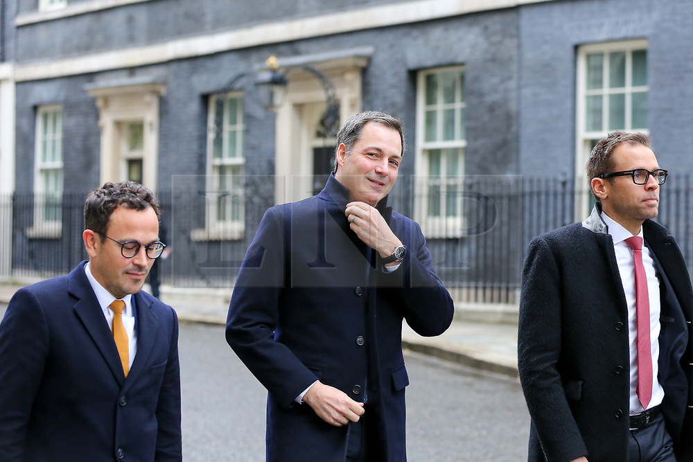© Licensed to London News Pictures. 06/03/2019. London, UK. Alexander De Croo (C), Deputy Prime Minister of Belgium and Minister of Finance and Development Cooperation leaves Downing Street after meeting Philip Hammond - Chancellor in No 11 Downing Street. Photo credit: Dinendra Haria/LNP