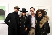 New York, NY-Jan. 11: (L-R) Music Producer/Recording Artist/Visual Artist Swizz Beatz, Recording Artist Alicia Keys, Peter Kundhadt, Jr, Executive Director, Gordon Parks Foundation and Photographer Latoya Ruby Frazier attends the Gordon Parks: I AM YOU Opening Reception presented by the Gordon Parks Foundation  held at the Jack Shanmain Gallery on January 11, 2018 in New York City.  (Photo by Terrence Jennings/terrencejennings.com)