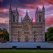 Nidaros Cathedral(Domkirke) is the world's northernmost medieval cathedral and Norway's national sanctuary. <br /> <br /> The Cathedral is the grave church of St. Olav, the patron Saint of Norway. In addition to it now being one of Europe's major historical pilgrim destinations, coronations and royal blessings take place in the church.Please feel free to check my photos here or find me by:  Website  , Facebook page  ,  Instagram  , Google+  , Twitter  .