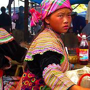 Flower Hmong girl at a rural market