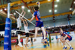 Jan Klobucar of ACH during volleyball match between Calcit Volleyball and ACH Volley in 4th Final Round of Radenska Classic League 2012/13 on April 16, 2013 in Arena Kamnik, Slovenia. (Photo By Vid Ponikvar / Sportida)