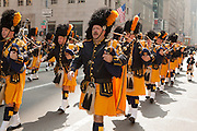 The pipe band of the Westchester County Police Emerald Society.