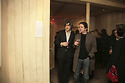 SAM KAPRIELOV AND MARK GIBBONS. ' Le Rivage des Syrtes' Exhibition of work by Sam Kaprielov. Riflemaker Gallery. Beak St. Soho. London. 26 February 2007.  -DO NOT ARCHIVE-© Copyright Photograph by Dafydd Jones. 248 Clapham Rd. London SW9 0PZ. Tel 0207 820 0771. www.dafjones.com.
