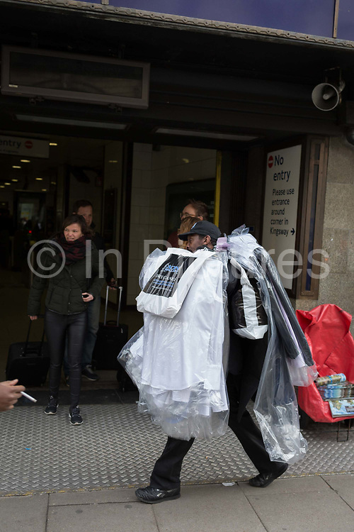 A dry cleaning delivery in central London, on 28th February 2017 in London, England.