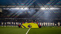 Football - 2018 / 2019 Premier League - Chelsea vs. Brighton & Hove Albion<br /> <br /> The two teams line up ahead of kick off at Stamford Bridge <br /> <br /> COLORSPORT/DANIEL BEARHAM