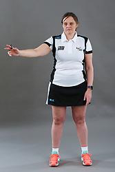 Umpire Rachael Radford signalling advantage