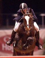 Rikstoto Grand Prix, Oslo Horse Show, Oslo Spektrum 19.10.02 <br /> Saturday, October 19th 2002. 7 E.T. CLIQOUET \ Erik BERENTSEN (NOR) <br /> Foto: Geir Egil Skog, Digitalsport.