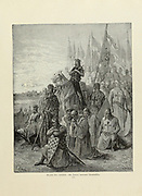 St. Louis [King of France Louis IX (25 April 1214 – 25 August 1270)],Before Damietta [Port city in Egypt 1249] Plate LXXII from the book Story of the crusades. with a magnificent gallery of one hundred full-page engravings by the world-renowned artist, Gustave Doré [Gustave Dore] by Boyd, James P. (James Penny), 1836-1910. Published in Philadelphia 1892