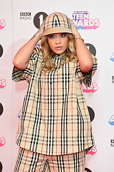 Rita Ora attending the BBC Radio 1 Teen Wards, at Wembley Arena, London. Picture date: Sunday October 22nd, 2017. Photo credit should read: Matt Crossick/ EMPICS Entertainment.