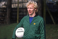 Derek Spence, footballer, international, N Ireland, 19820223014DS2. He was training with N Ireland team in St Albans for their match against England at Wembley<br /> <br /> Copyright Image from Victor Patterson, Belfast, UK<br /> <br /> t: +44 28 9066 1296 (from Rep of Ireland 048 9066 1296)<br /> m: +44 7802 353836<br /> e: victorpattersonbelfast@gmail.com<br /> <br /> www.images4media.com<br /> <br /> Please see my full Terms and Conditions of Use at https://www.images4media.com/p/terms-conditions - it is IMPORTANT that you familiarise yourself with them.<br /> <br /> Images used online incur an additional cost. This cost should be agreed in writing in advance. Online images must be visibly watermarked i.e. © Victor Patterson or that of the named photographer within the body of the image. The original metadata must not be deleted from images used online.<br /> <br /> This image is only available for the use of the download recipient i.e. television station, newspaper, magazine, book publisher, etc, and must not be passed on to a third party. It is also downloaded on condition that each and every usage is notified within 7 days to victorpattersonbelfast@gmail.com.<br /> <br /> The right of Victor Patterson (or the named photographer) to be identified as the author is asserted in accordance with The Copyright Designs And Patents Act (1988). All moral rights are asserted.