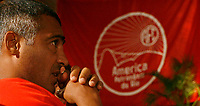 20090330: RIO DE JANEIRO, BRAZIL - Brazil's football legend Romario attends the launch of the cooperation between brazilian teams America and Botafogo. In picture: . PHOTO: CITYFILES