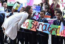 The Duke and Duchess of Cambridge arriving at the Copper Box Arena to help celebrate the Commonwealth, ahead of the Commonwealth Heads of Government Meeting in April. Photo credit should read: Doug Peters/EMPICS Entertainment
